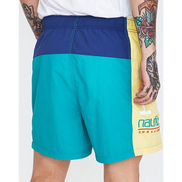 Colourblock Swim Short Teal Blue, Teal Blue, hi-res