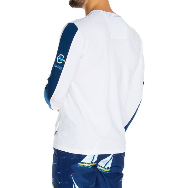 Nautica Competition Panelled Long Sleeve Tee, Bright White, hi-res