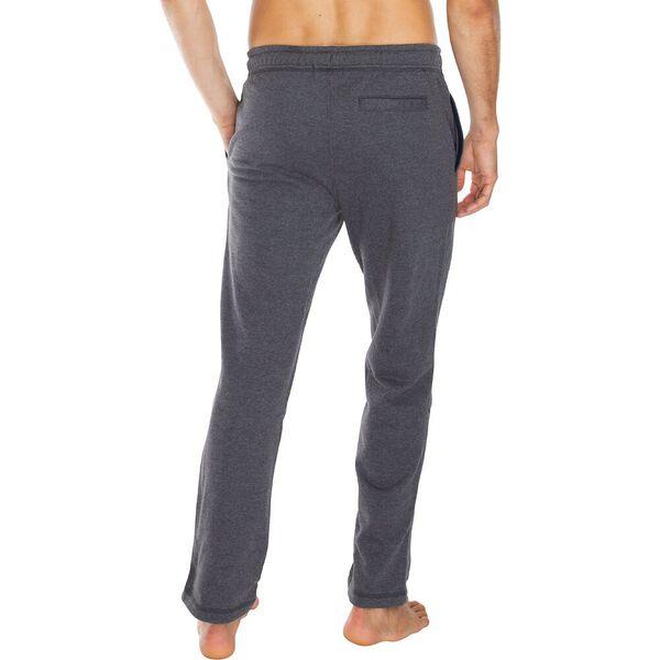 Essential Fleece Track Pants, Charcoal Heather, hi-res