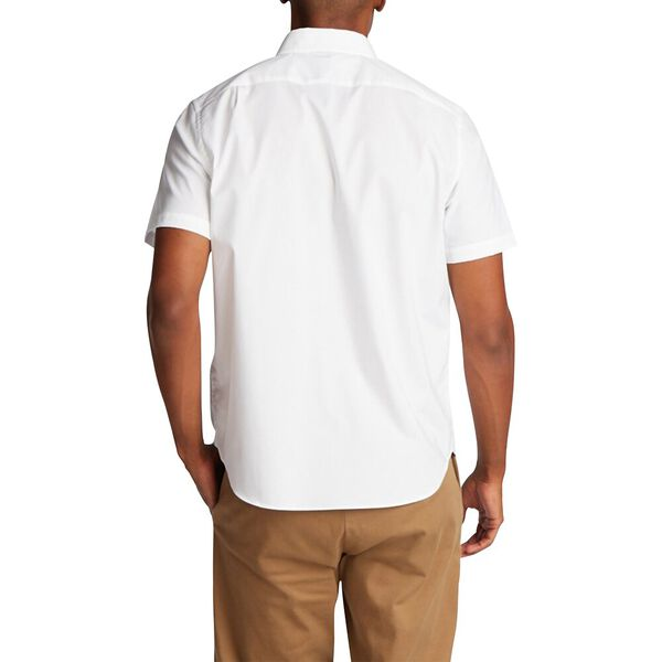 Classic Fit Wrinkle-Resistant Short Sleeve Shirt Blue, Bright White, hi-res