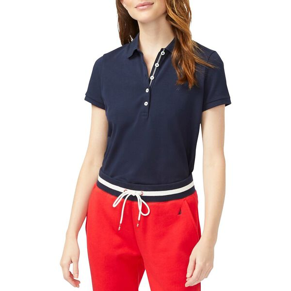 Classic Fit Chambray Collar Polo, Navy Seas, hi-res