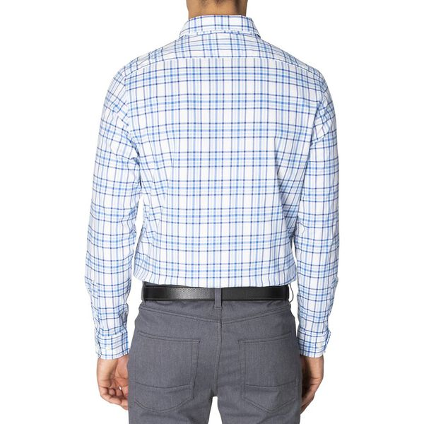 Slim Fit Navtech Blue Shadow Long Sleeve Checked Shirt, Light Haze, hi-res