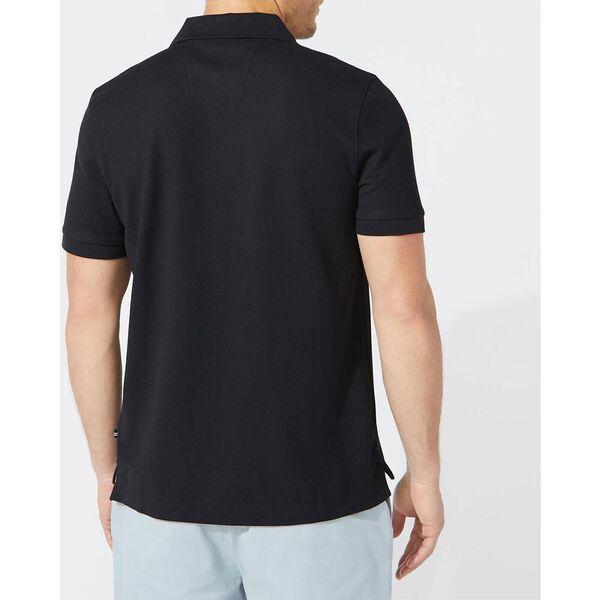 Short Sleeve Performance Deck Polo Shirt, True Black, hi-res