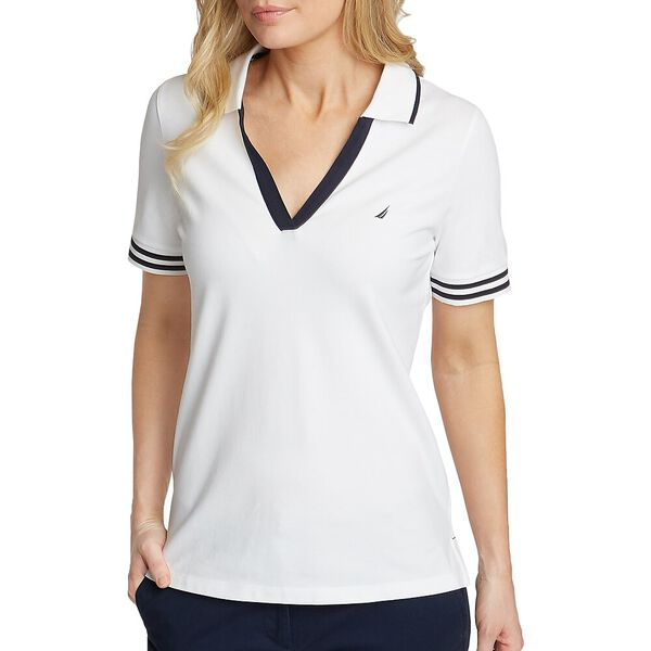 ELBOW SLEEVE CLASSIC FIT POLO, BRIGHT WHITE, hi-res