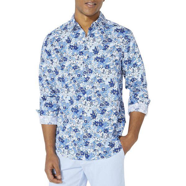 Classic Fit Floral Long Sleeve Shirt, Limoges, hi-res
