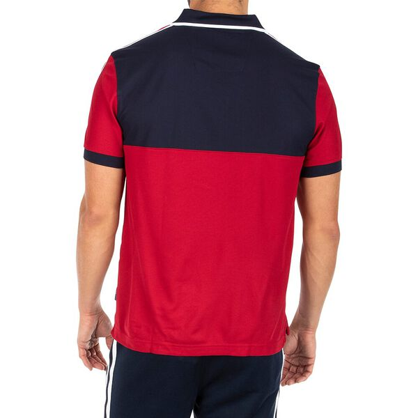 Sustainably Crafted Colourblock Polo, Navy, hi-res
