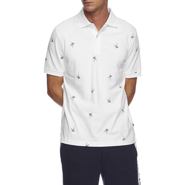 NAVTECH STRIPE COLORBLOCK POLO, BRIGHT WHITE, hi-res