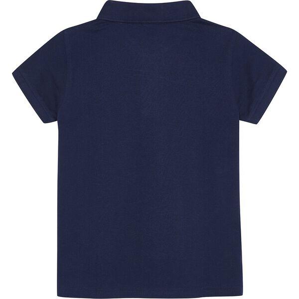 Boys 8-14 Mini Anchor Deck Short Sleeve Polo, Navy, hi-res