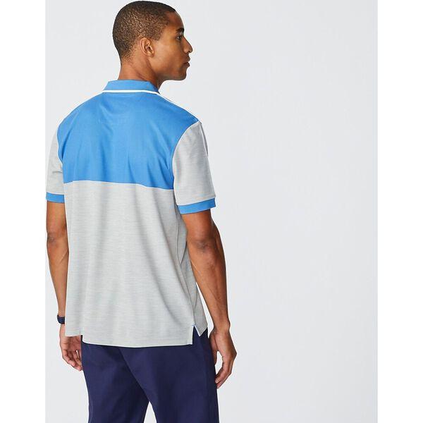 Sustainably Crafted Colourblock Polo, Windsurf Blue, hi-res