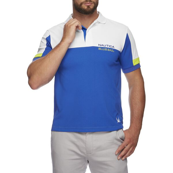 BLUE SAIL TECH BLOCKED POLO