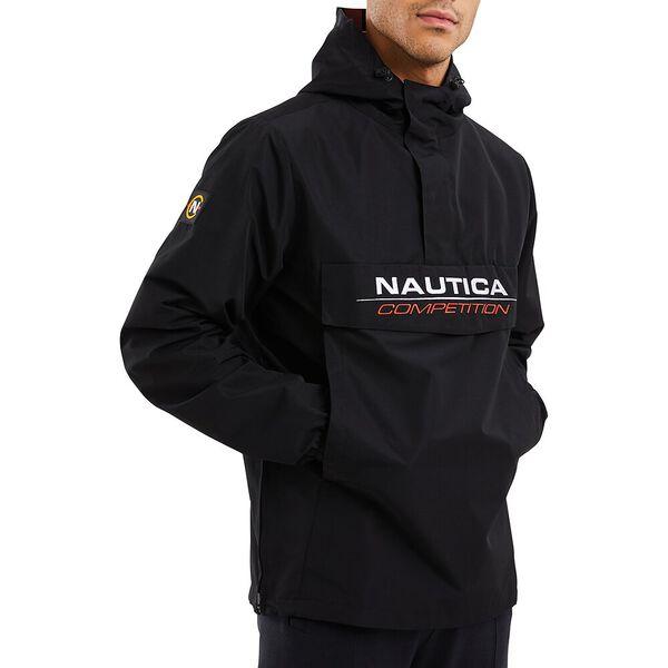 Nautica Competition Cowl 1/4 Zip Windbreaker, Black, hi-res