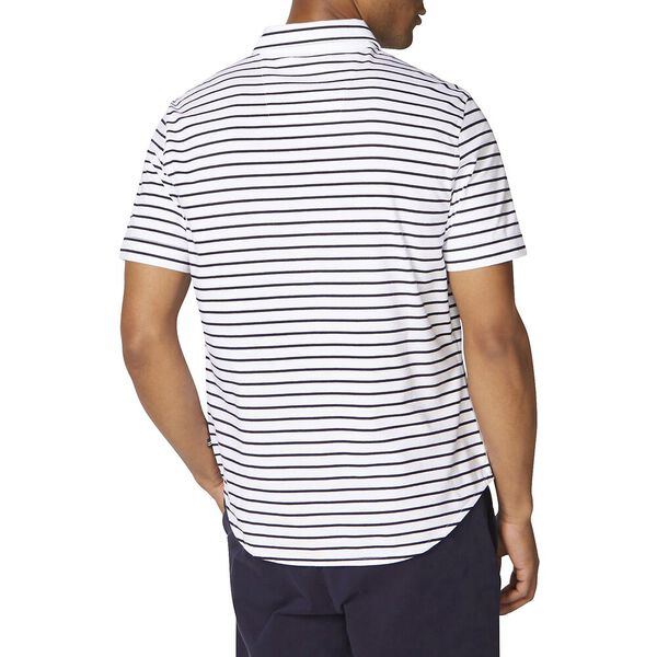 Classic Fit Jersey Short Sleeve Stripe Shirt, Bright White, hi-res
