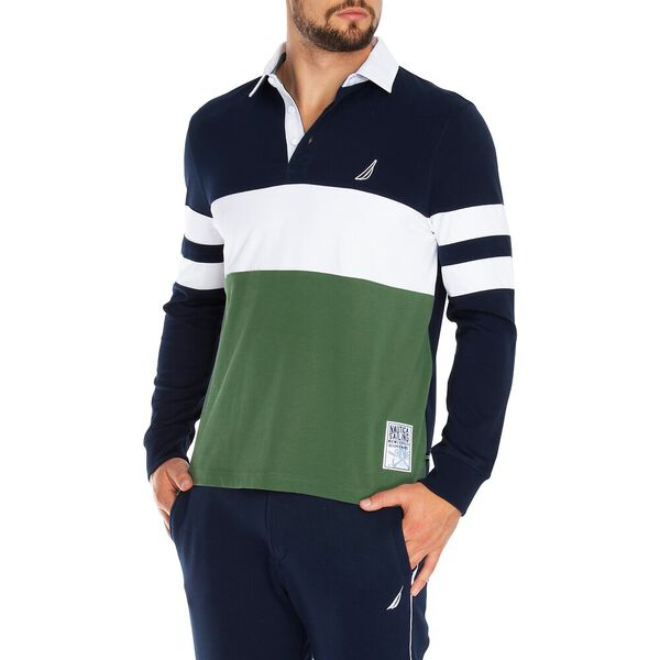 Chest Stripe Rugby, Navy, hi-res