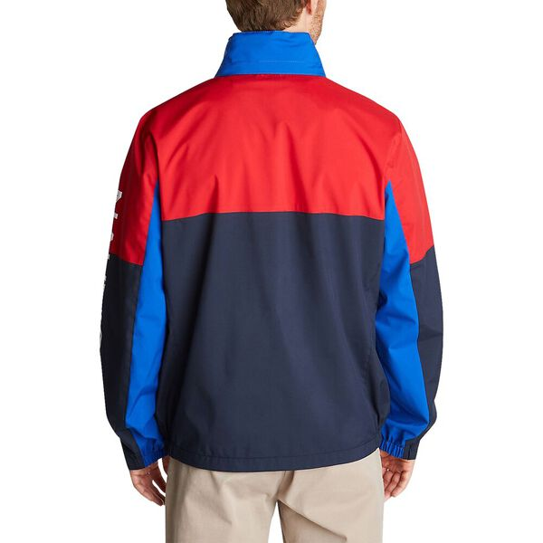Colour Blocked Heritage Bomber, Navy, hi-res