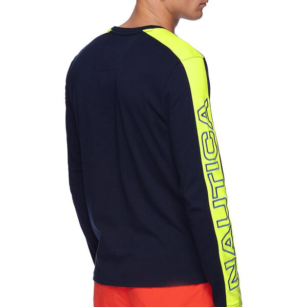 NAUTICA COMPETITION BLOCK LONG SLEEVE TEE, NAVY, hi-res