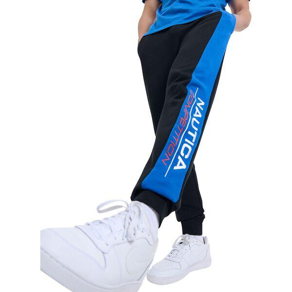 Nautica Competition Silt Track Pants, Black, hi-res