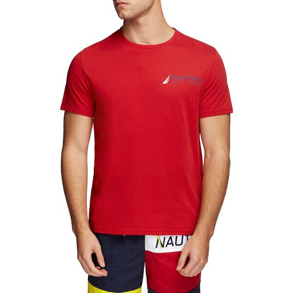 ESTABLISHED 1983 SHOULDER TEE, NAUTICA RED, hi-res