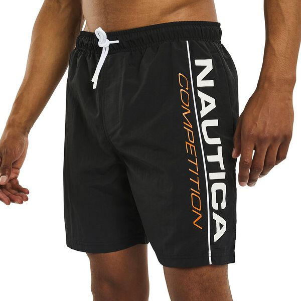Nautica Competition Folsom Swim Shorts, True Black, hi-res