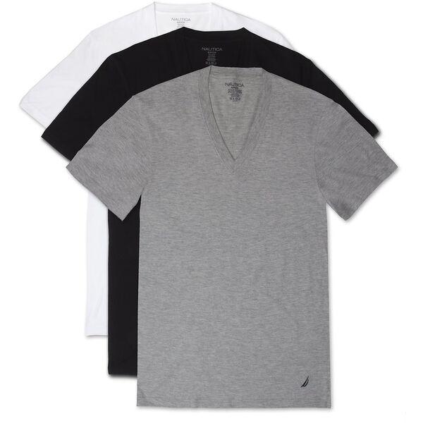 3 PACK NAUTICA V-NECK T-SHIRT, WHITE, hi-res