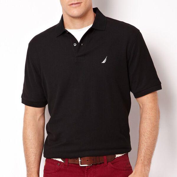 Big & Tall Short Sleeve Deck Polo, True Black, hi-res
