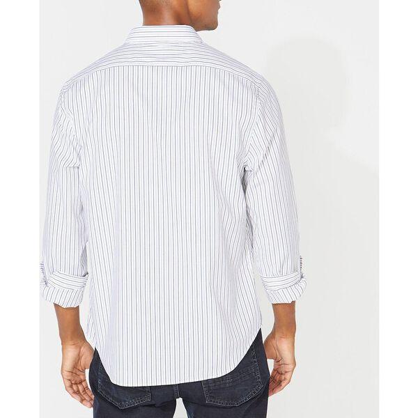 Slim Fit Wrinkle Resistant Striped Shirt, J Navy, hi-res