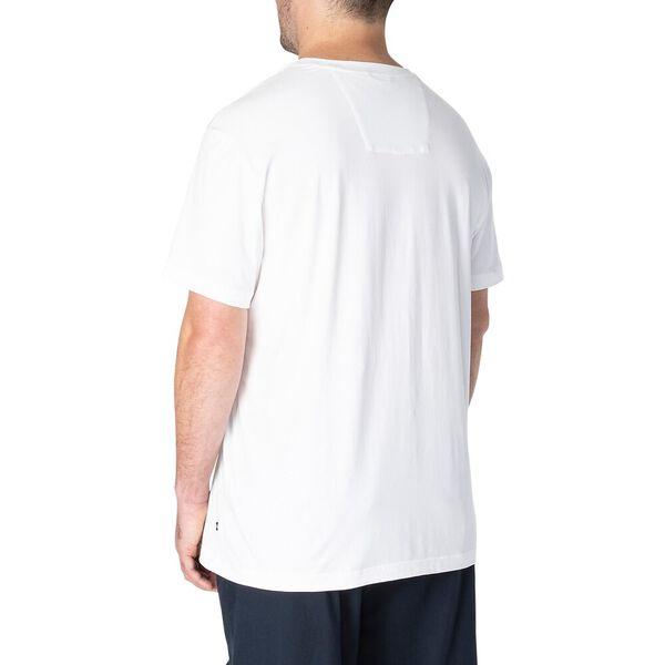 Big & Tall Anchor V Neck Tee, Bright White, hi-res