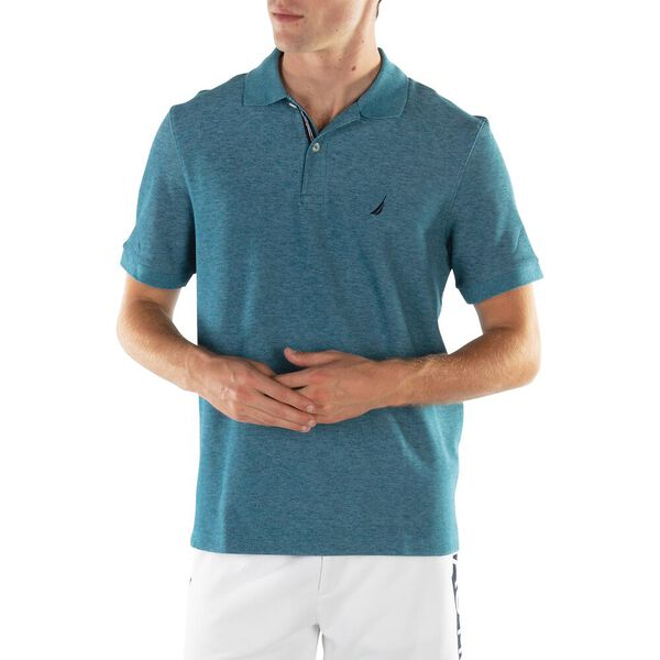 CLASSIC FIT PERFORMANCE POLO, OCEAN DEPTHS HEATHER, hi-res