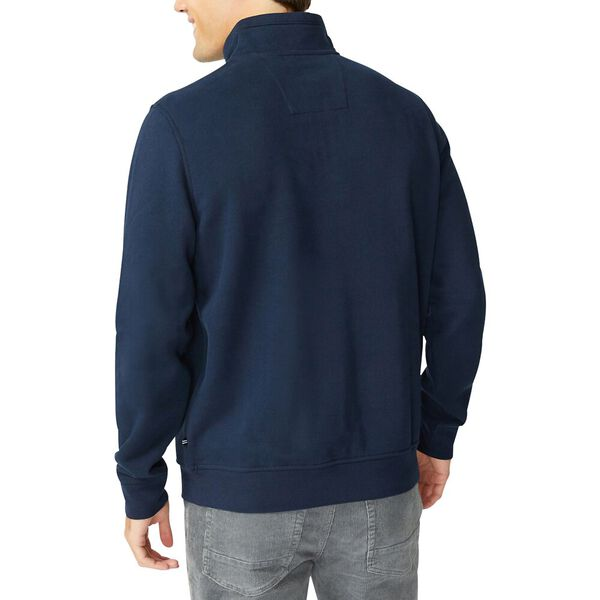 J. Class Pieced Quarter Zip Sweater, Navy, hi-res