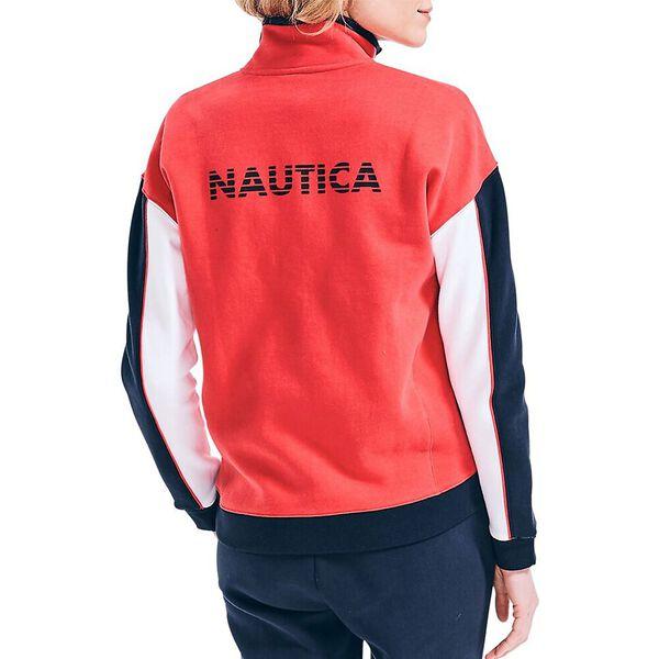 Nautica Team Track Jacket, Rose Coral, hi-res