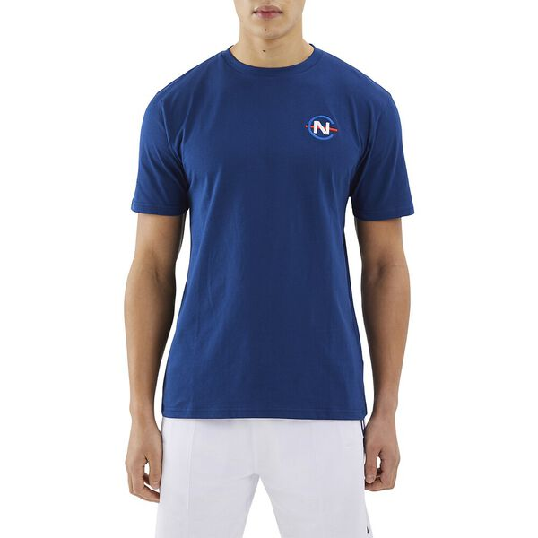 Nautica Competition Patroon Tee, Navy, hi-res