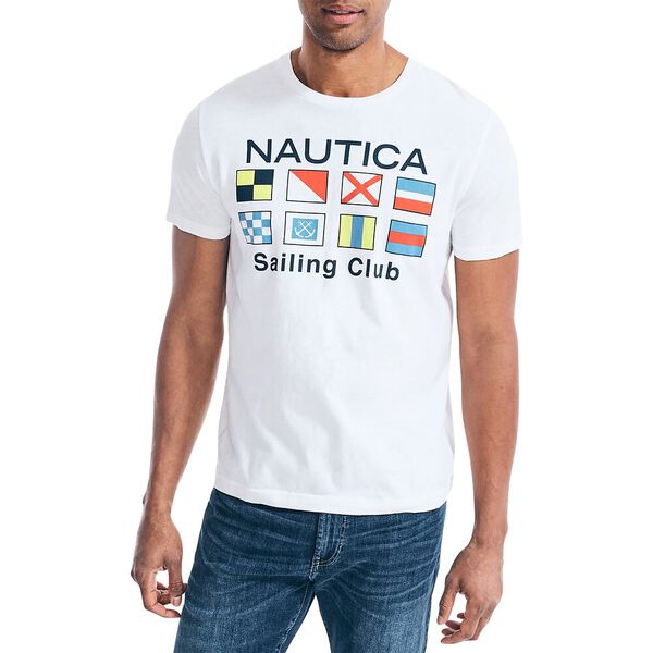 Flags Out Sailing Tee, Bright White, hi-res