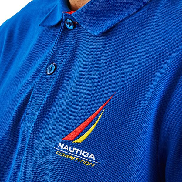 Nautica Competition Coble Polo, Spinner Blue, hi-res