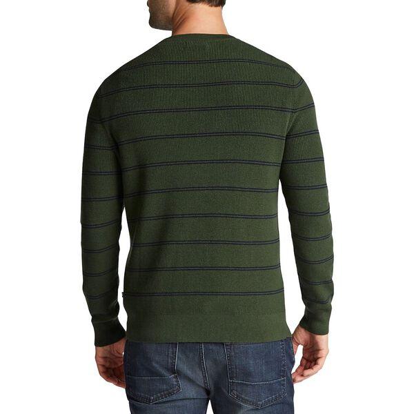 Double Stripe Crewneck Navtech Sweater, Pineforest, hi-res
