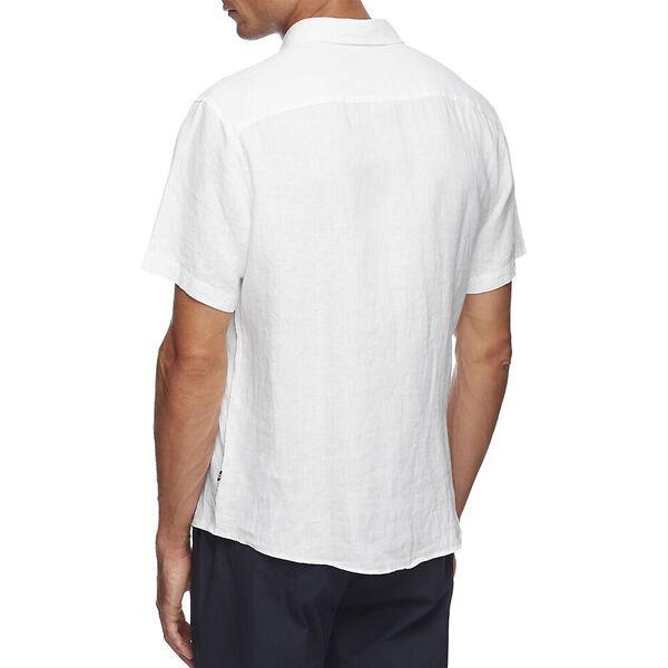 Classic Fit Linen Shirt, Bright White, hi-res
