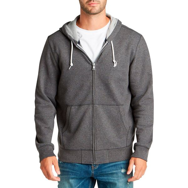 Signature Full Zip Hoodie, Charcoal Heather, hi-res