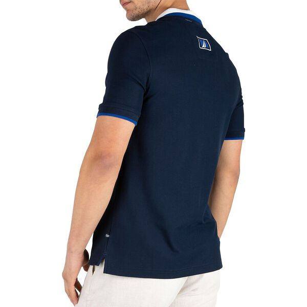 Sustainably Crafted Navtech Tipped Polo, Navy, hi-res