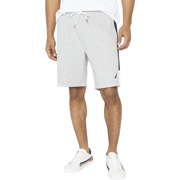 Nautica Heritage Sportswear Track Short, Grey Heather, hi-res