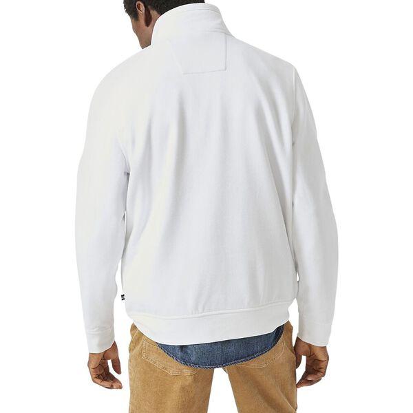 J. Class Pieced Quarter Zip Jumper, Bright White, hi-res