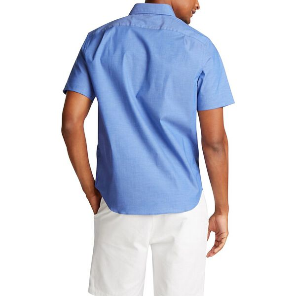 Classic Fit Wrinkle-Resistant Short Sleeve Shirt Blue, French Blue, hi-res