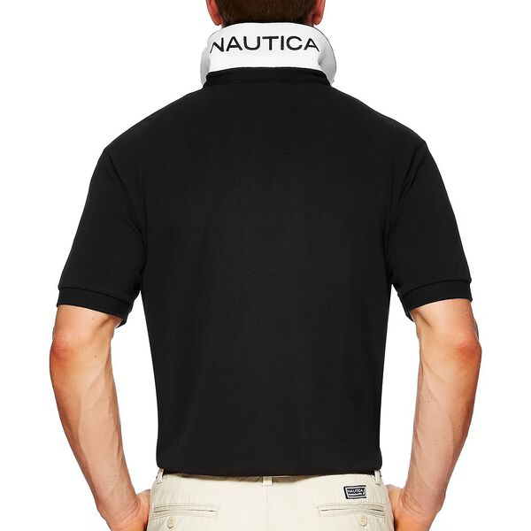 Short Sleeve Solid Deck Polo, True Black, hi-res