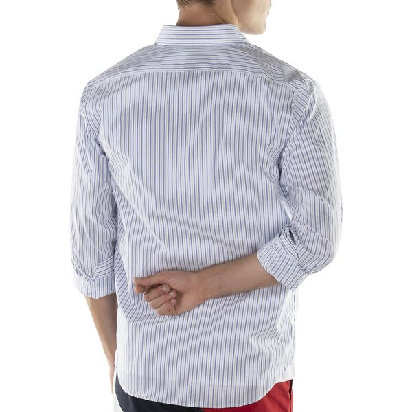 Button Down Stripe Shirt, French Blue, hi-res