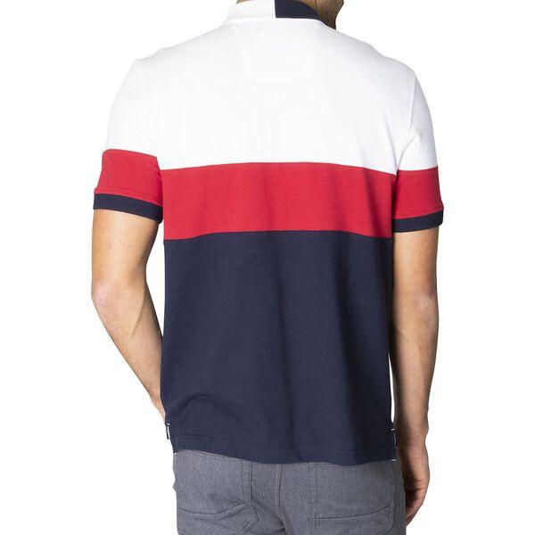 Classic Fit Colourblock Polo, Bright White, hi-res
