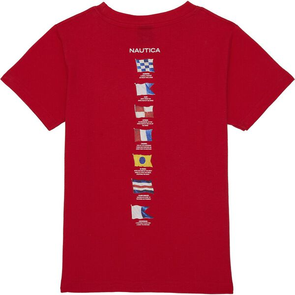 Boys 3 -7 Rower T-Shirt, Red, hi-res