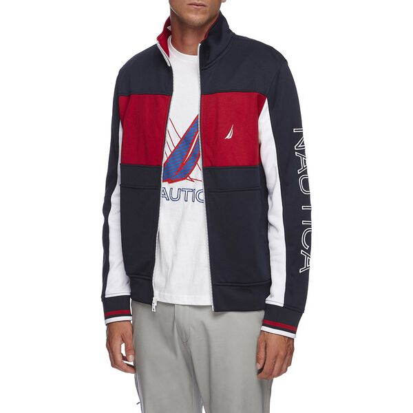 Split Collar Retro Track Jacket