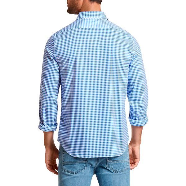 Slim Fit Wrinkle Resistant Shirt In Plaid, French Blue, hi-res