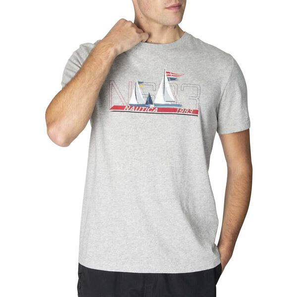 Speed Sailing NS83 Tee, Grey Heather, hi-res