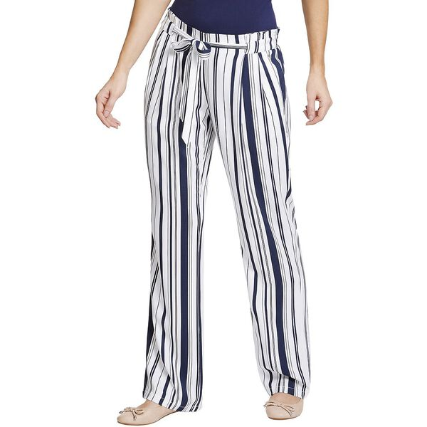 TIE WAIST STRIPED WIDE LEG PANTS