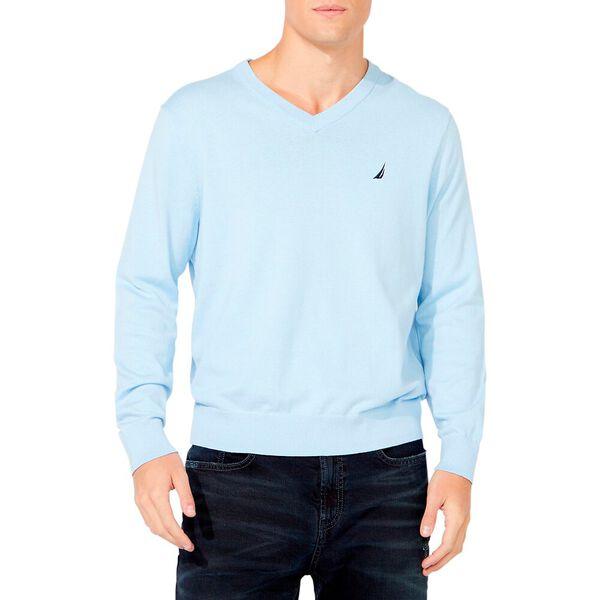 Navtech V-neck Jersey Sweater, Noon Blue, hi-res