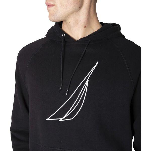 Nautica J. Class Hoodie, True Black, hi-res