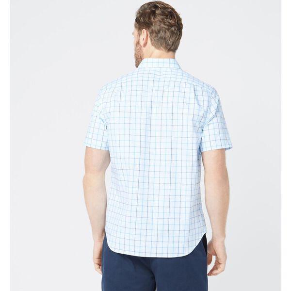 Classic Fit Wrinkle Resistant Plaid Short Sleeve Shirt, Noon Blue, hi-res